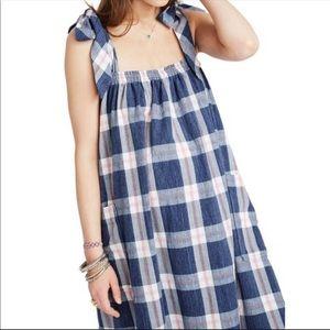 Hatch Maternity Blueberry Plaid Dress